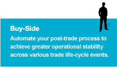 Buy-Side - Automate your post-trade process to achieve greater operational stability across various trade life cycyle events.