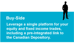 Buy-side: Leverage a single platform for your equity             and fixed income trades, including a pre-integrated link to the CDS.